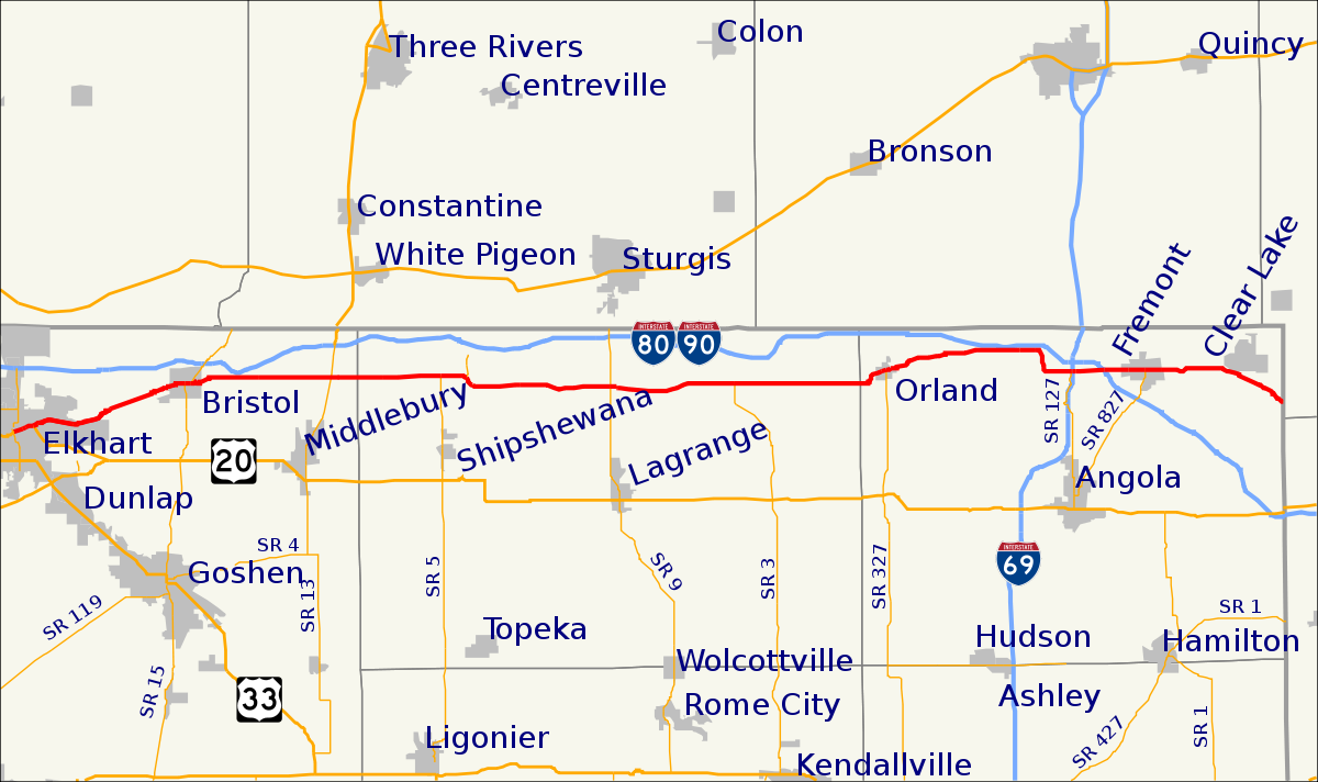 Indiana Toll Roads Map